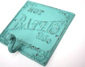 Shabby Cottage Chic Cast Iron Hot Baths Hanger