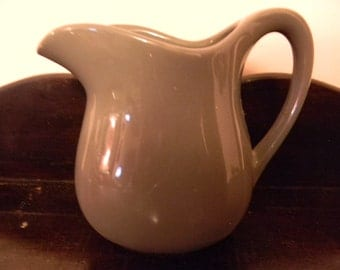 Vintage Heavy Duty Pottery Pitcher - 4 Cup