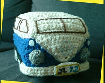 Amigurumi VW Volkswagen Camper Bus Travel Van Kombi Car Toys Crochet Pattern Beetle Christmas