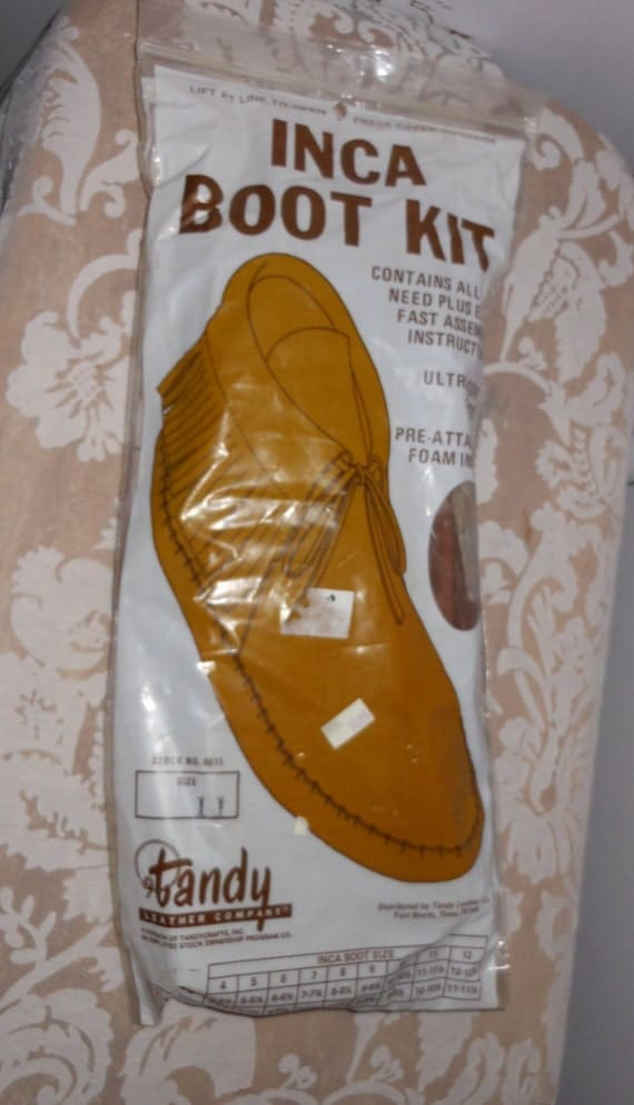 Vintage Leather Moccasin Kit Tandy Complete Unopened Kit To