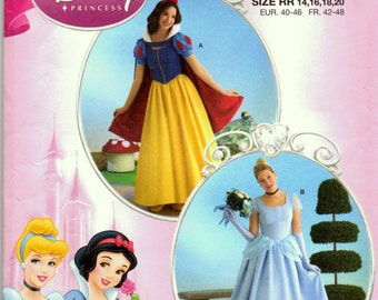 Sewing Pattern Simplicity 2813 Costume Misses' Disney Princess  Size 14-20 Uncut Complete FF