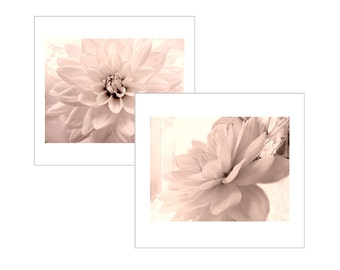 Pink Dahlia Wall Art, Dahlia Print Set,  Flower Photography Set, Floral Art Photography, Nursery Decor, Bedroom Art