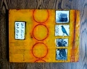SALE- 75% off    Back in The Day- original encaustic painting