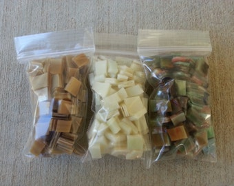 Mosaic Tiles 300 EARTHY and BROWN MIX Stained Glass Mosaic Tile