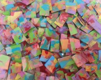 Mosaic Tiles FULL OF PIZZAZ pink purple yellow orange green blue Mosaic Tile