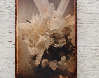 Rock quartz crystal photo B - Wall Art