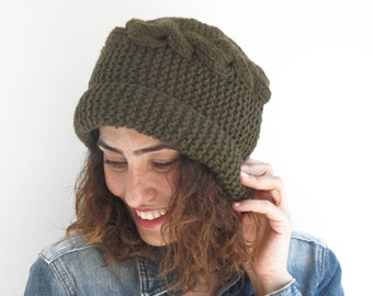 Army Green Hat by Afra
