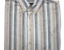 Vintage Gant Foxhunt Striped Shirt Mens Size Large