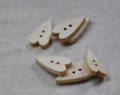 15 pcs+ Zakka Heart Wooden Buttons