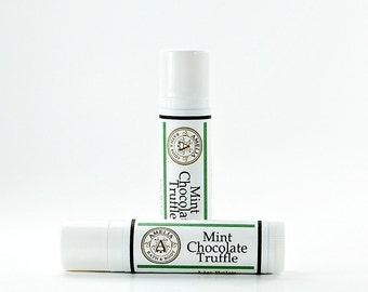 Mint Chocolate Lip Balm | Vegan Lip Balm, Moisture Balm, Vegan Gift, Lip Gloss, Natural Moisturizer | Mint Chocolate Truffle Lip Balm