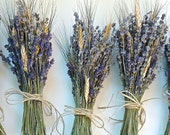 6 Simple  Lavender and Wheat Bouquets for Bridesmaids Bouquets