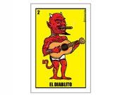 El Diablito Small Vinyl Sticker