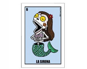 La Sirena Small Vinyl Sticker