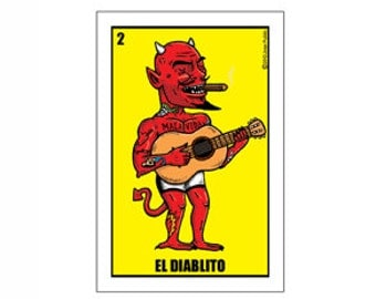 El Diablito Small Vinyl Sticker