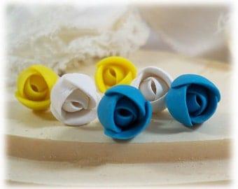 Tiny Rosebud Stud Earrings - Tiny Rosebud Jewelry