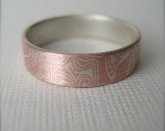 Mokume Gane Band,  Wedding band,  Engagement Ring