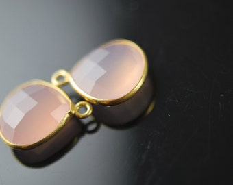Matching Rose quartz pendant in vermeil 2 pieces  20.00 ON SALE 18.00
