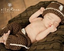 Football Hat pants set ,baby hat,Baby pants newborn hat newborn pants ,Size newborn 0-3 , 3-6,classic or custom team colors