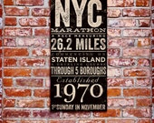 New York City Marathon original typography artwork by stephen fowler on gallery wrapped canvas
