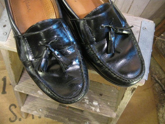 Classic black tassel Loafers Vintage Cole Haan preppy  9
