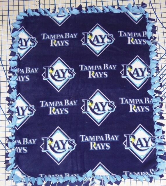 Tampa Bay Rays Fleece Baby Blanket Hand Tied Pet Dog Lap Stroller Car MLB Baseball