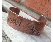 Personalized Hammered Copper Cuff