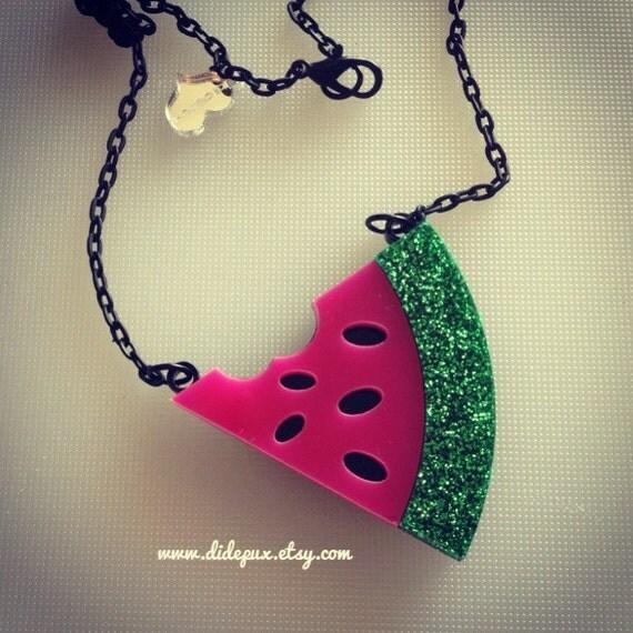 Watermelon necklace