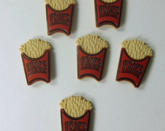 Fries Novelty Flatback Cabochons