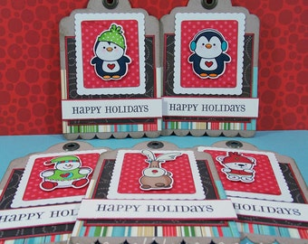 Happy Holidays Large Gift Tags Set of 5