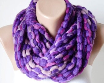 SALE-Purple Dream..Winter Accessories-Infinity Scarf-Loop Scarf-Circle Scarf, Christmas Gift