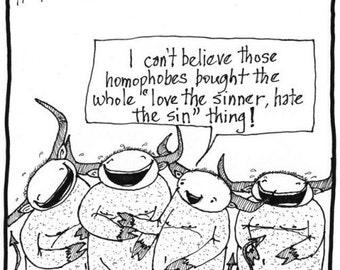 love the sinner hate the sin PRINT