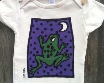 Jumping, Moon Frog Organic Cotton One pc. Bodysuit
