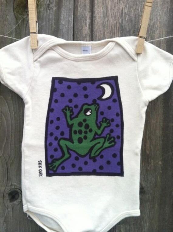 Jumping, Moon Frog Organic Cotton One pc. Bodysuit