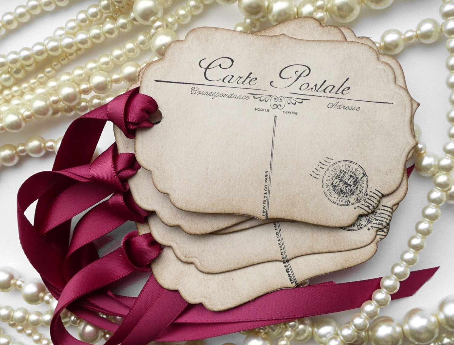 Diy Gift Tags For Wedding Favors : DIY Place Cards Postcard Favor Tags Postcard Tags Place