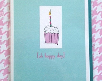 Birthday single card - Oh Happy Day