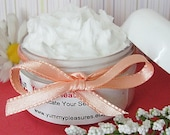 Body BUTTER SILK----Skin Moisturizer---Whipped---Lotion----Sweet White Peach-- Scent--2 0z Jar---White