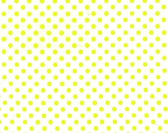 Neon Fabric, quilt or craft fabric by Michael Miller- Dumb Dot in Neon Lemon Yellow- Fat Quarter