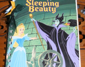 Walt Disney's Sleeping Beauty Little Golden Book Recycled Writing Journal