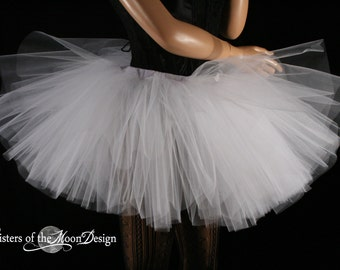 White petticoat tutu dance skirt Extra puffy adult three layer dance costume petticoat carnival --You Choose Size -- Sisters of the Moon