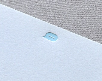 Letterpress SMS Texting Bubble Card Set with Envelopes