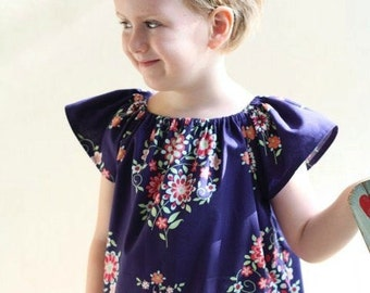 Pocket Peasant Top/Dress Sewing Pattern Whimsy Couture  Tutorial ebook -- 0m - 12 girls PDF Instant