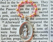 Rosary Ring - Catholic rosary beads with St. Bernadette medal Italy prayer Saint prayers