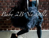 Adult Tutu Shabby Chic Black Skirt  Perfect for Weddings and Portraits