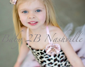 Girls Safari Pink Cheetah Tutu Outfit Size Toddler 2-4T Pageant Wear Outfit of Choice
