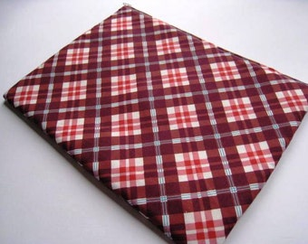 """Red Plaid - Macbook 13"""" Air or Macbook 13 Inch Pro - Laptop Case - Laptop Sleeve - Cover - Bag - Padded and Zipper Closure"""