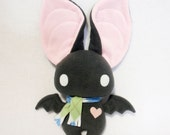Dexter the Bat in Gray and Pink - Reserved for MisakoXC
