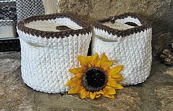 Handmade Crochet Basket : Items similar to basket handmade crochet
