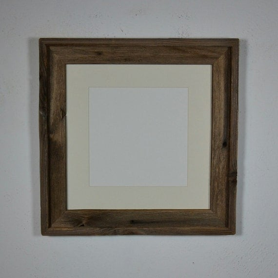 12x12 Eco Chic Barnwood Brown Frame With 8x8 Off By Barnwood4u