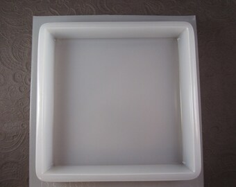 Resin Mold Square Base 6x6 Stand 15,5 cm Trophy Plaque Candle Base