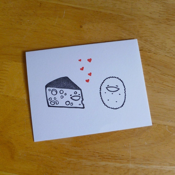 Cheese Loves Cracker Single Notecard